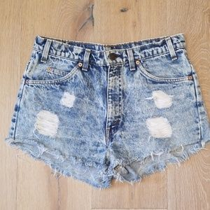 Levi's ~ Vintage High Waisted Cut Off Jean Shorts